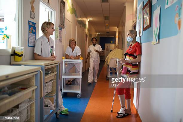 Cancerous Woman In Hospital This photo essay can be used only to illustrate cancer Raymond Poincare Hospital Garches in France Department of...