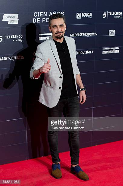 Canco Rodriguez attends 'Cien Anos De Perdon' premiere at Capitol Cinema on March 1 2016 in Madrid Spain
