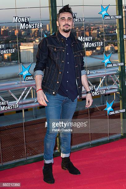 Canco Rodriguez attends 'Money Monster' premiere at Picasso Tower roof on May 18 2016 in Madrid Spain