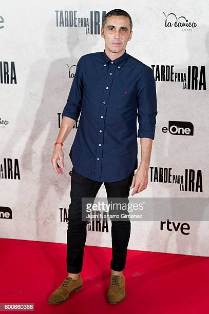 Canco Rodriguez attends 'Tarde Para La Ira' premiere at Capitol Cinema on September 8 2016 in Madrid Spain
