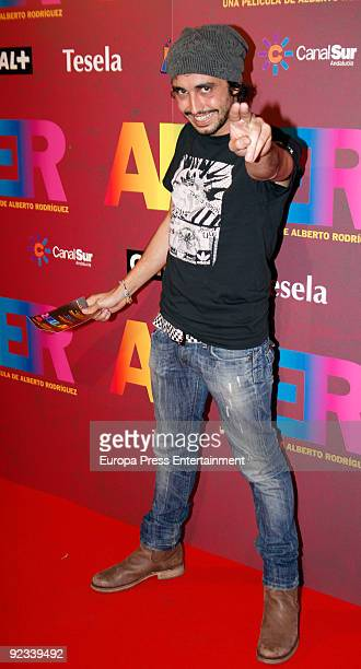 Canco Rodriguez attends the premiere of 'After' on October 23 2009 in Madrid Spain