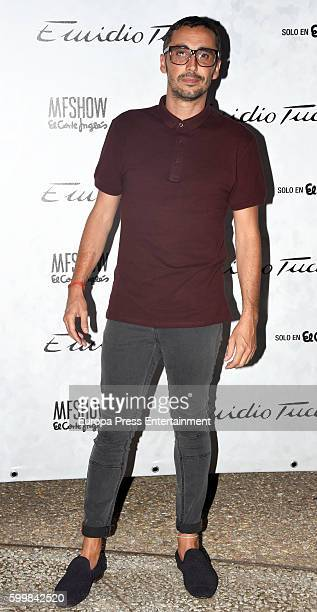 Canco Rodriguez poses during the photocall of Emidio Tucci Fashion Show at Costume Museum on September 6 2016 in Madrid Spain