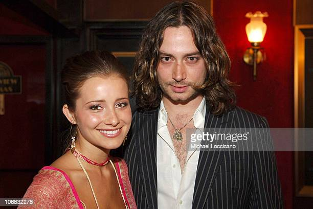 Candace Bailey and Constantine Maroulis during 'Star Wars Episode III Revenge Of The Sith' New York City Benefit Premiere Red Carpet at The Ziegfeld...