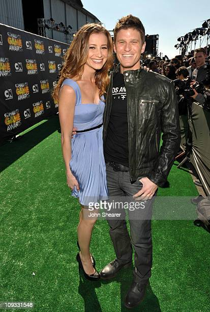 Candace Bailey and Kevin Pereira arrive at Cartoon Network Hall of Game Awards held at The Barker Hanger on Febuary 21 2011 in Santa Monica...