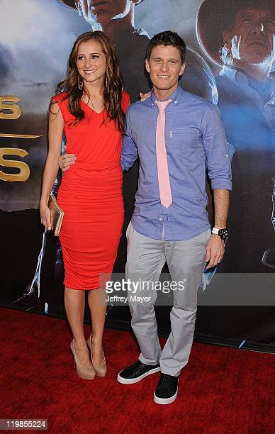 Candace Bailey and Kevin Pereira arrive at the 'Cowboys Aliens' World Premiere at the San Diego Civic Theatre on July 23 2011 in San Diego California