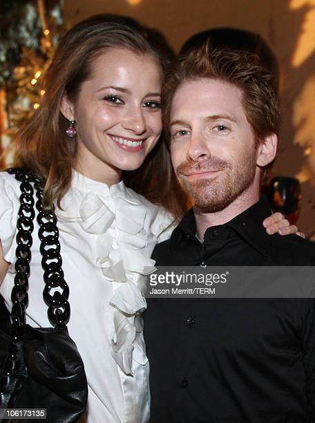 Candace Bailey and Seth Green at the premiere after party for Warner Bros' 'Fred Claus' at The Lot on November 3 2007 in Los Angeles California