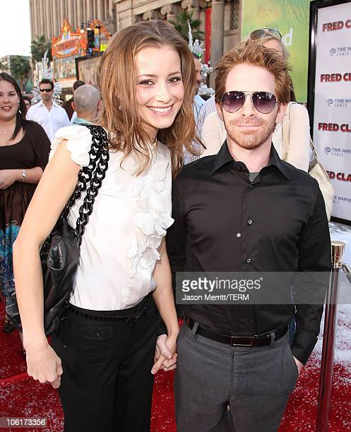 Candace Bailey and Seth Green at the Premiere of Warner Bros 'FRED CLAUS' at Grauman's Chinese Theatre on November 3 2007 in Los Angeles California