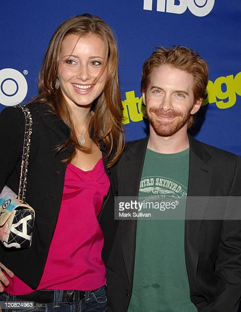 Candace Bailey and Seth Green during 'Entourage' Los Angeles Premiere Arrivals at The Cinerama Dome in Los Angeles California United States