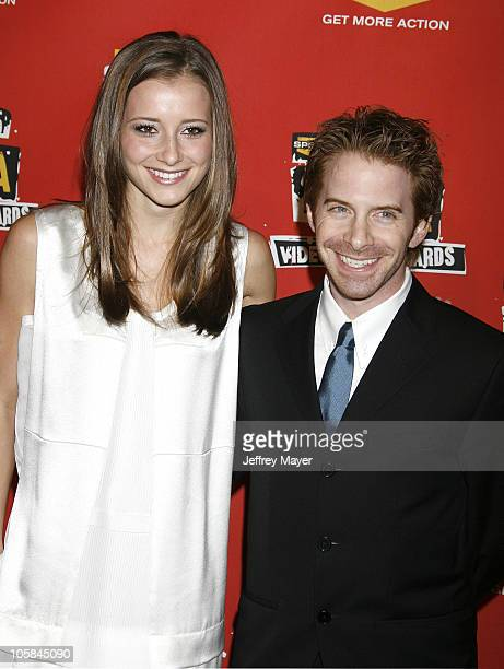 Candace Bailey and Seth Green during Spike TV's 2006 Video Game Awards Arrivals at The Galen Center in Los Angeles California United States