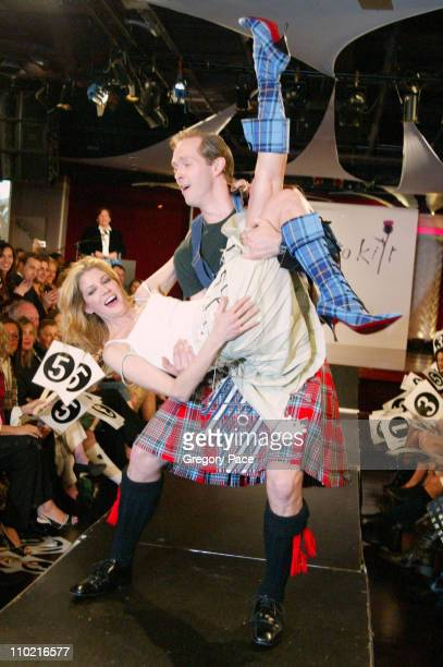 Candace Bushnell and husband Charles Askegard during 'Dressed to Kilt' A Scottish Evening of Fashion and Fun Runway at Copacabana in New York City...