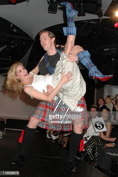 Candace Bushnell and husband Charles Askegard during Johnnie Walker Presents Dressed to Kilt Arrivals and Runway at Copacabana in New York City New...