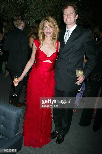 Candace Bushnell and husband Charles Askegard during Valentino Fragrance Launch Party For 'Valentino V' at Four Seasons in New York City New York...