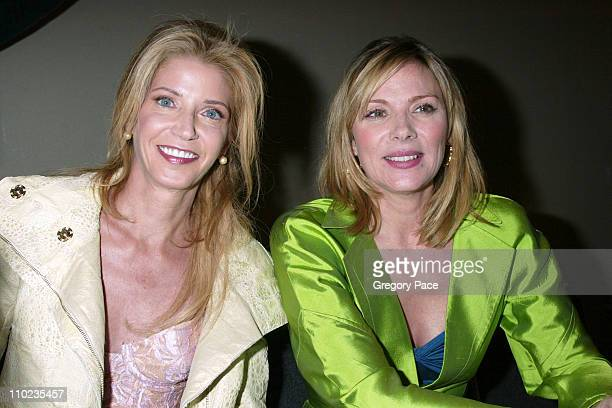 Candace Bushnell and Kim Cattrall during 2005 BookExpo America Day One at Jacob Javits Center in New York City New York United States