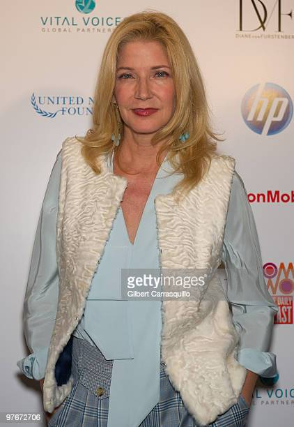 Candace Bushnell attends 'Women In The World Stories and Solutions' at Hudson Theatre on March 12 2010 in New York City
