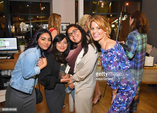 Candace Cameron and Dream Center girls attend Natasha Bure 'Let's Be Real' Los Angeles book launch party at Eden By Eden Sassoon on March 24 2017 in...