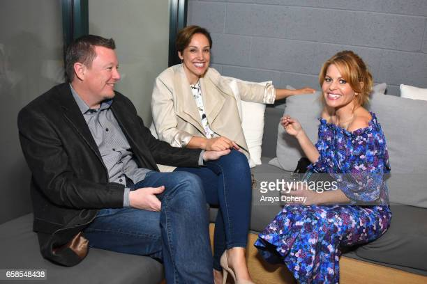 Candace Cameron and guests attend Natasha Bure 'Let's Be Real' Los Angeles book launch party at Eden By Eden Sassoon on March 24 2017 in Los Angeles...