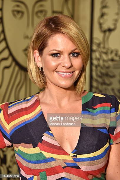 Candace Cameron Bure attends the Alice Olivia by Stacey Bendet Spring/Summer 2017 Presentation during New York Fashion Week September 2016 at...