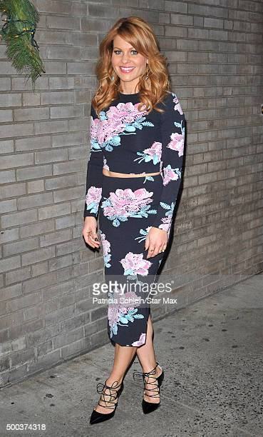 Candace Cameron is seen on December 7 2015 in New York City
