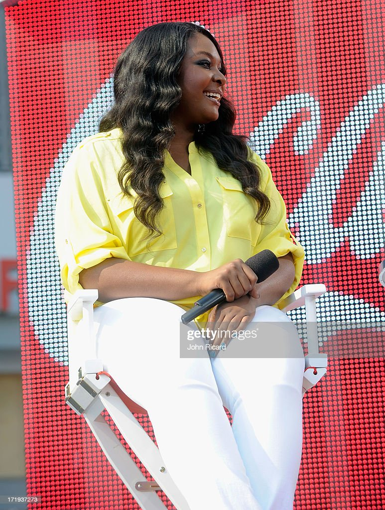 Candace Glover speaks onstage during at 106 & Park Live presented by Coke during the 2013 BET Experience at L.A. LIVE on June 29, 2013 in Los Angeles, California.