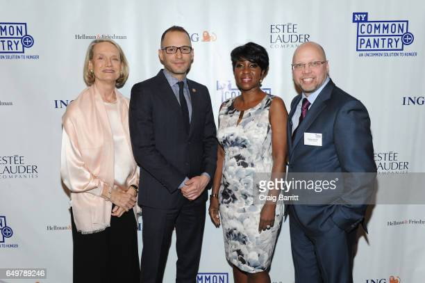 Candace K Frawley Jonathan Estreich Cheryl Wills and Stephen Grimaldi attend the NY Common Pantry 2017 FILL THE BAG Benefit at Gotham Hall on March 8...