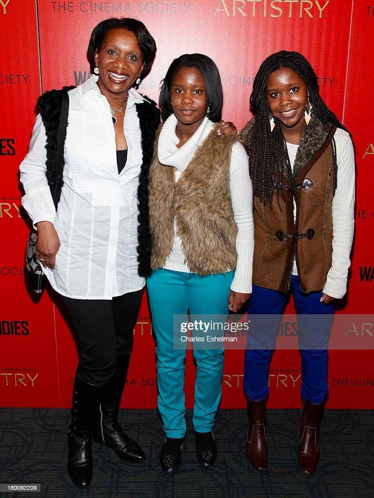 Candace Matthews, Simone Matthews and Sydney Matthews attend The Cinema Society & Artistry Screening Of 'Warm Bodies' at Landmark Sunshine Cinema on January 25, 2013 in New York City.