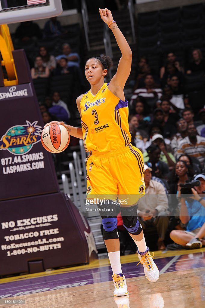 <a gi-track='captionPersonalityLinkClicked' href=/galleries/search?phrase=Candace+Parker&family=editorial&specificpeople=752955 ng-click='$event.stopPropagation()'>Candace Parker</a> #3 of the Los Angeles Sparks calls a play during a game against the Minnesota Lynx at Staples Center on September 12, 2013 in Los Angeles, California.