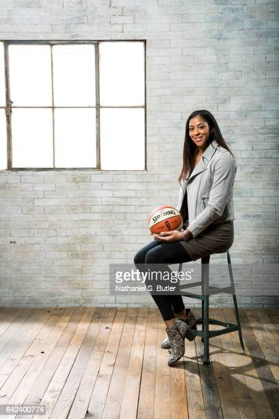 Candace Parker of the Los Angeles Sparks poses for a photo during the 2017 AllStar Media Circuit at the Ritz Carlton in New Orleans Louisiana NOTE TO...