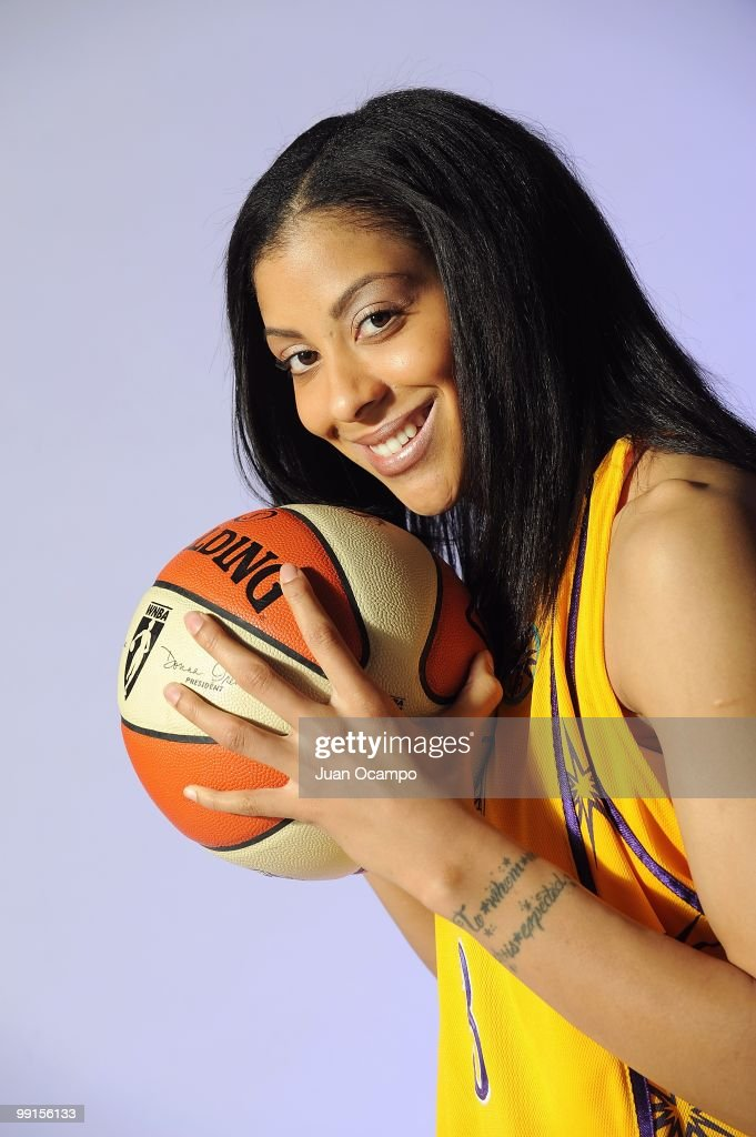 Candace Parker of the Los Angeles Sparks poses for a portrait during WNBA Media Day on May 10 2010 at St Mary's Academy in Inglewood California NOTE...