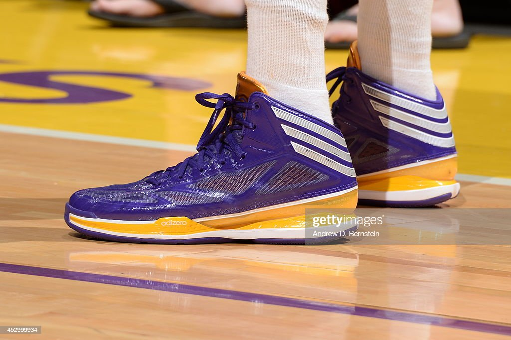 <a gi-track='captionPersonalityLinkClicked' href=/galleries/search?phrase=Candace+Parker&family=editorial&specificpeople=752955 ng-click='$event.stopPropagation()'>Candace Parker</a> #3 of the Los Angeles Sparks sneakes are shown during the game against the Washington Mystics at STAPLES Center on July 17, 2014 in Los Angeles, California.