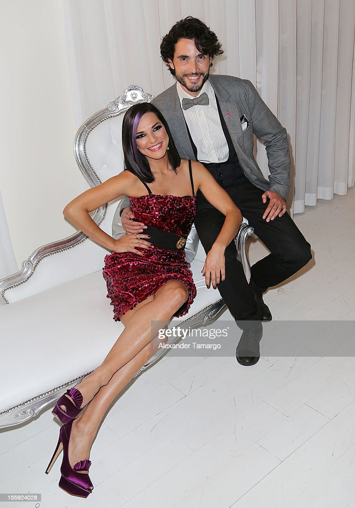 Candela Ferro and Khotan Fernandez attend Miami Hair, Beauty & Fashion 2012 By Rocco Donna at Viceroy Hotel Spa on November 8, 2012 in Miami, Florida.