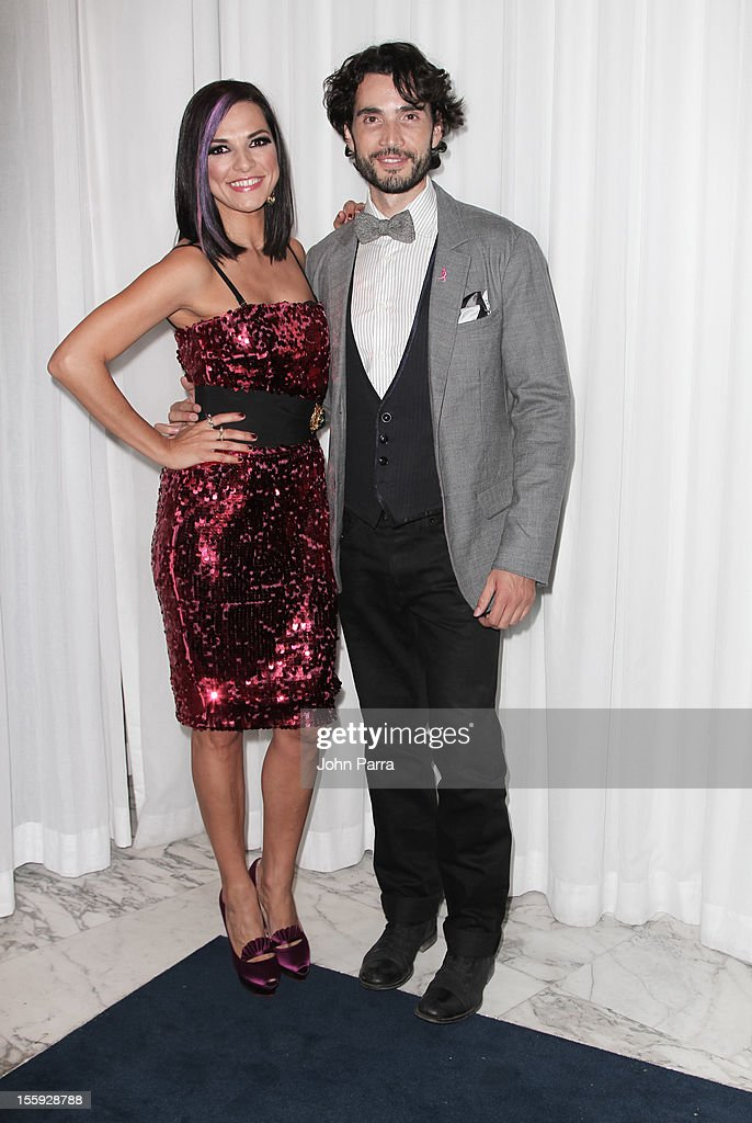 Candela Ferro and Khotan Fernandez attends Miami Hair, Beauty & Fashion 2012 By Rocco Donna at Viceroy Hotel Spa on November 8, 2012 in Miami, Florida.