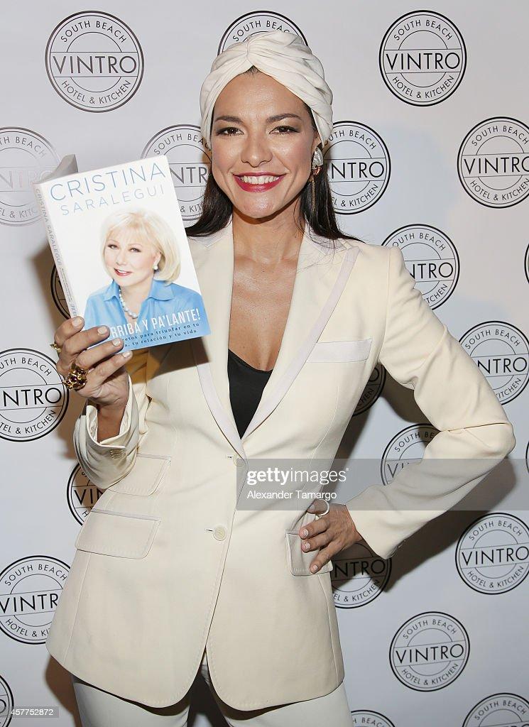 Candela Ferro attends Cristina Saralegui's Book Launch at Vintro Hotel on October 23, 2014 in Miami, Florida.