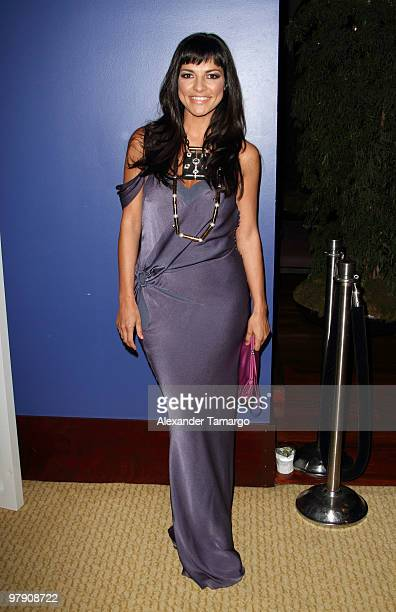 Candela Ferro attends Telemundo's annual gala for the Women of Tomorrow Mentor Scholarship Program at Mandarin Oriental on March 20 2010 in Miami...