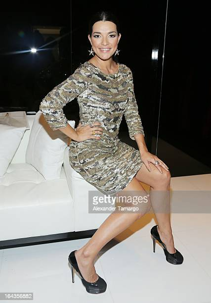 Candela Ferro attends the grand opening of Rosa Clara store on March 22 2013 in Coral Gables Florida