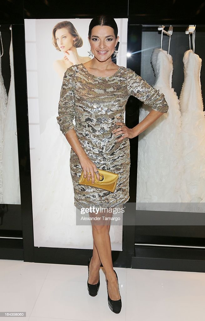 Candela Ferro attends the grand opening of Rosa Clara store on March 22, 2013 in Coral Gables, Florida.