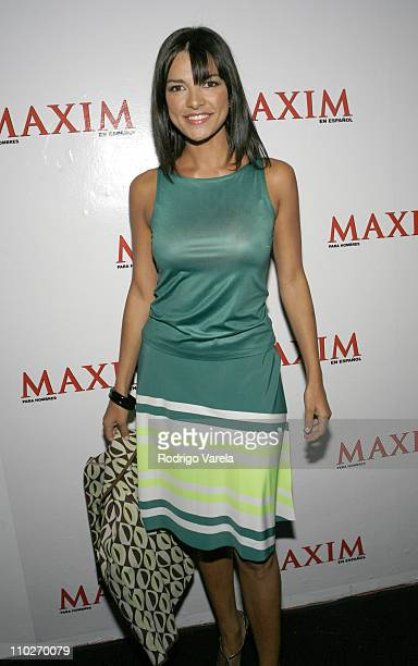 Candela Ferro during Maxim en Espanol Fourth Anniversary Party at Glass in Miami Beach Florida United States