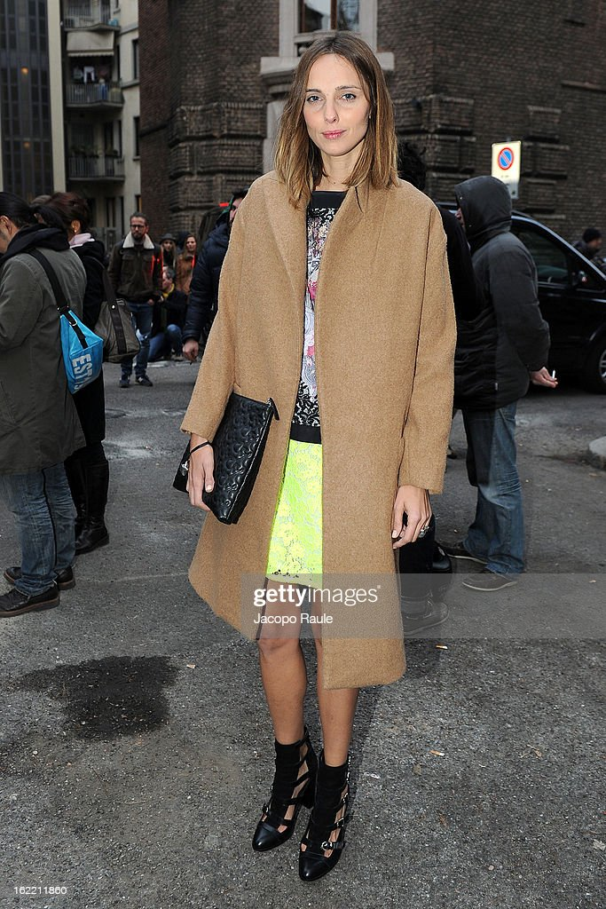Candela Novembre arrives the Alberta Ferretti show during Milan Fashion Week Womenswear Fall/Winter 2013/14 on February 20, 2013 in Milan, Italy.