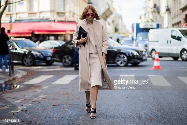 Candela Novembre at Moncler Gamme Rouge during the Paris Fashion Week Womenswear Spring/Summer 2016 on Oktober 7 2015 in Paris France