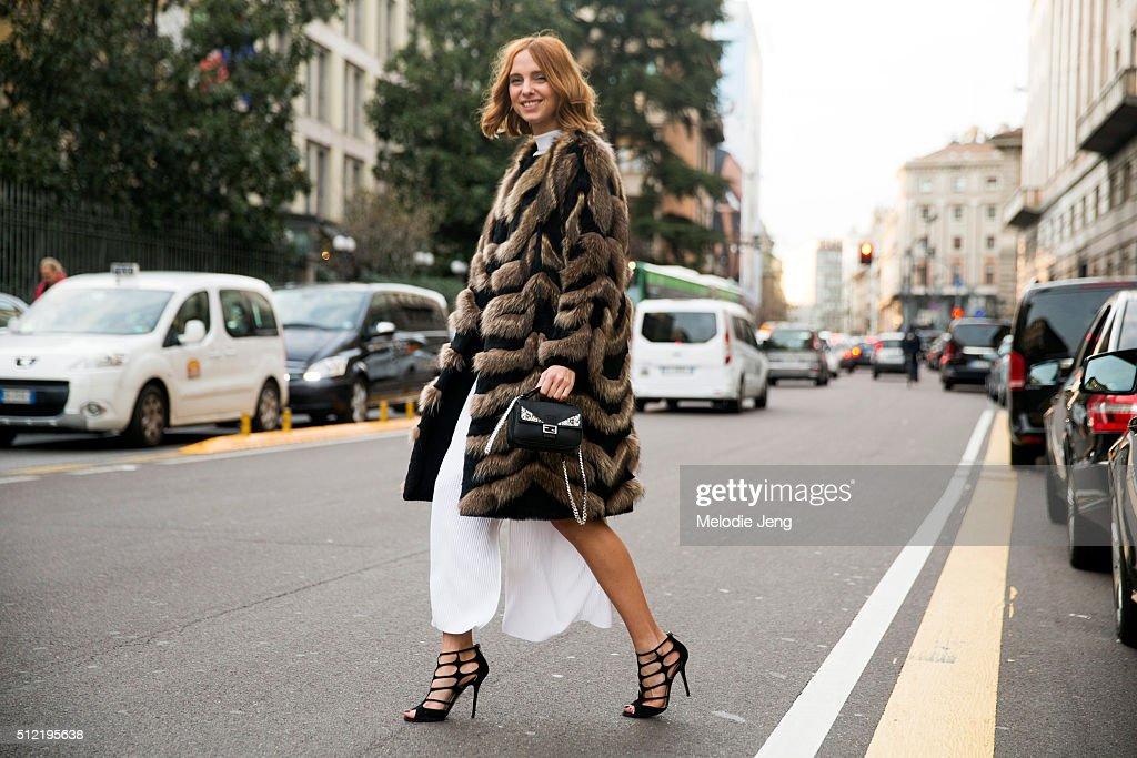 Street Style: February 24 - Milan Fashion Week Fall/Winter 2016/17