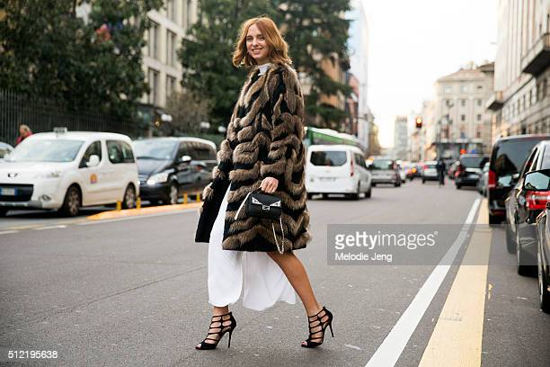 Candela Novembre at the Alberta Ferretti show on February 24 2016 in Milan Italy
