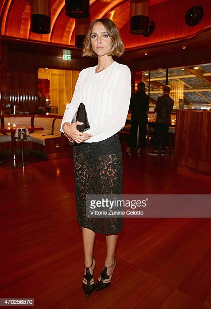 Candela Novembre attends Lampoon cocktail and private dinner on April 18 2015 in Milan Italy