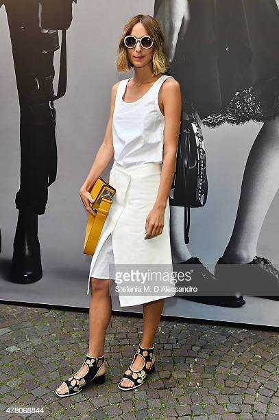 Candela Novembre attends the Diesel Black Gold show during the Milan Men's Fashion Week Spring/Summer 2016 on June 22 2015 in Milan Italy