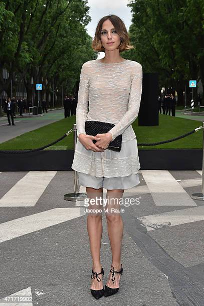 Candela Novembre attends the Giorgio Armani 40th Anniversary Silos Opening And Cocktail Reception on April 30 2015 in Milan Italy