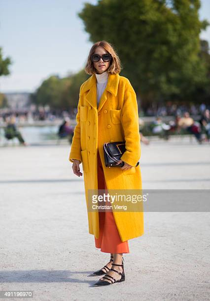 Candela Novembre during the Paris Fashion Week Womenswear Spring/Summer 2016 on October 3 2015 in Paris France