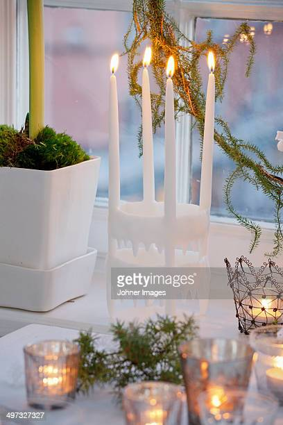 Candels in a window