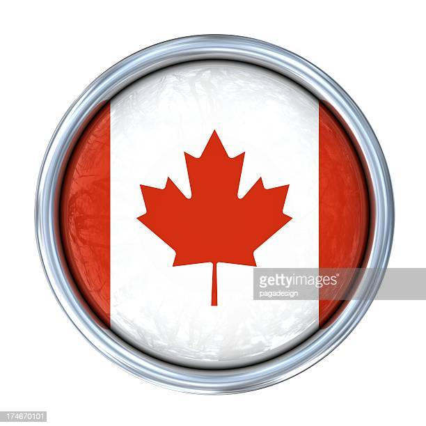 candian flag on button