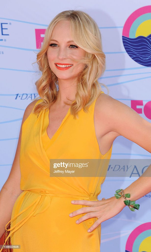 Candice Accola arrives at the 2012 Teen Choice Awards at Gibson Amphitheatre on July 22 2012 in Universal City California