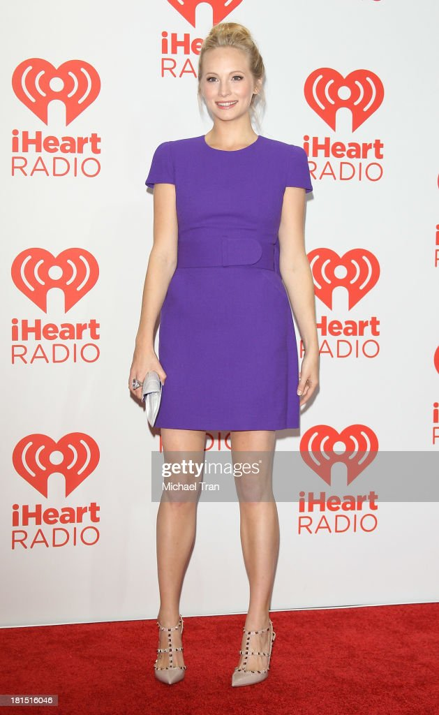<a gi-track='captionPersonalityLinkClicked' href=/galleries/search?phrase=Candice+Accola&family=editorial&specificpeople=2335285 ng-click='$event.stopPropagation()'>Candice Accola</a> arrives at the iHeartRadio Music Festival - press room - Day 2 held on September 21, 2013 in Las Vegas, Nevada.