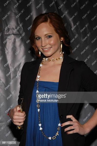 Candice Accola attends Reebok welcomes the VAULT at Sportie LA on April 21 2005 in Los Angeles California