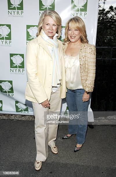 Candice Bergen and Bette Midler during Bette Midler's New York Restoration Project's 5th Annual Picnic at Highbridge Park in New York City New York...